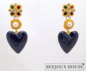 Jacqueline Heart Drop Earrings