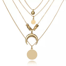 Load image into Gallery viewer, Multi-layer Necklace Gold