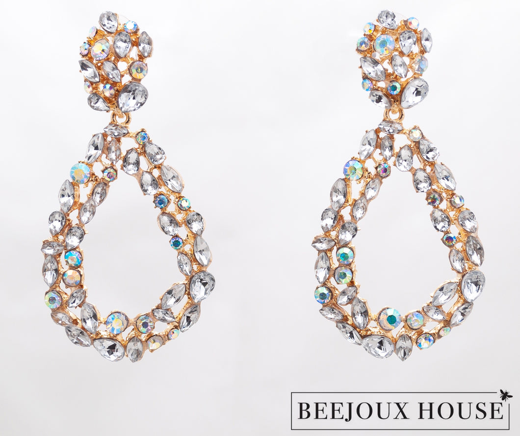 Sofia Crystal Drop Earrings