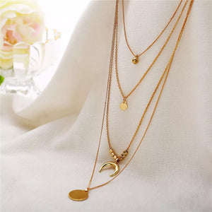 Multi-layer Necklace Gold