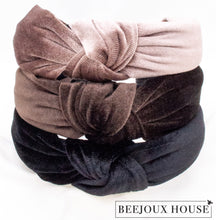 Load image into Gallery viewer, Sylvia Knot Velvet Headband