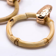 Load image into Gallery viewer, Gia Bamboo Hoop Earrings