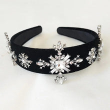 Load image into Gallery viewer, Elsa Velvet Rhinestone Hairband
