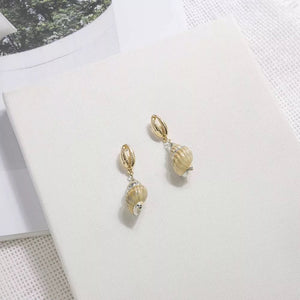 Shell Beach Drop Earrings