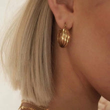 Load image into Gallery viewer, Connie Gold Plated Twist Mini Hoops