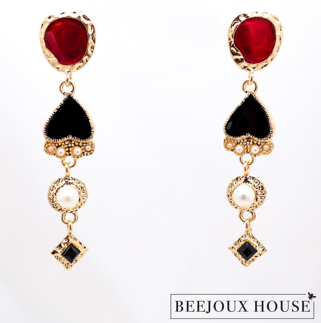 Zabel Long Drop Earrings