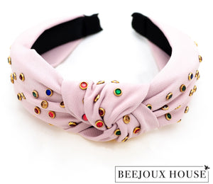 Nairi Colourful Rhinestone Knot Hairband