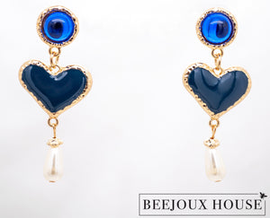 Bella Coeur Heart Drop Earrings