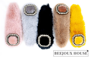 Anastasia Large Furry Faux Fur Hair Clips