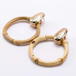 Gia Bamboo Hoop Earrings