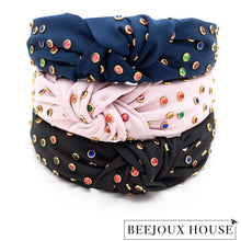 Load image into Gallery viewer, Nairi Colourful Rhinestone Knot Hairband