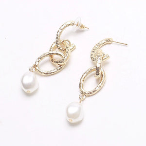 Kate Long Gold Chain Pearl Drops