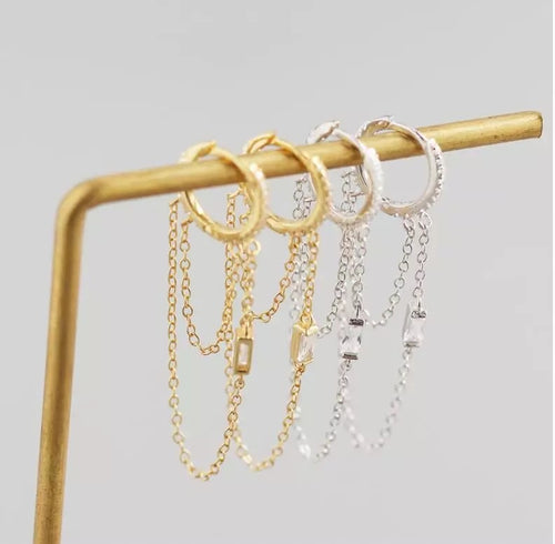 Melissa huggies with tassel chain crystal
