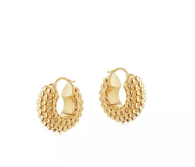 Grace 18k Gold Plated Mini Hoops