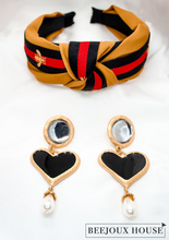 Load image into Gallery viewer, Alina Stone Heart Drop Earrings