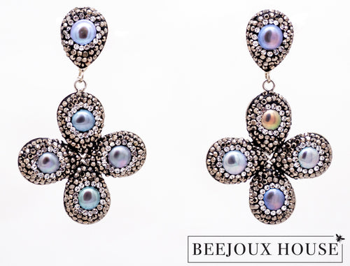 Alexandra Cross Earrings