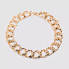 Load image into Gallery viewer, Gold Chain Choker Necklace