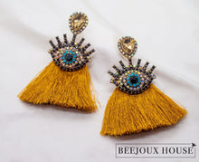 Load image into Gallery viewer, Ella Eye Tassel Earring