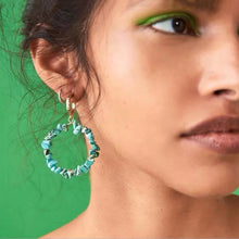 Load image into Gallery viewer, Meliné Turquoise Drop Earrings