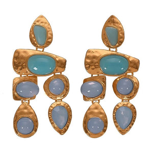 Julia Geometric Drop Earrings