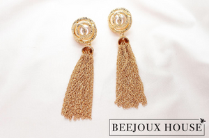Chloe Gold Drop Earrings