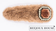 Load image into Gallery viewer, Anastasia Large Furry Faux Fur Hair Clips