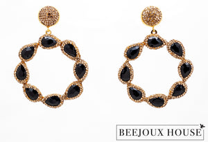 Sevana Round Drop Earrings