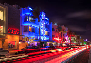 Ocean Drive - Light Trails