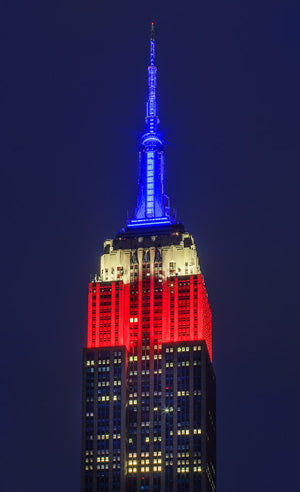 Empire State Building - American Flag