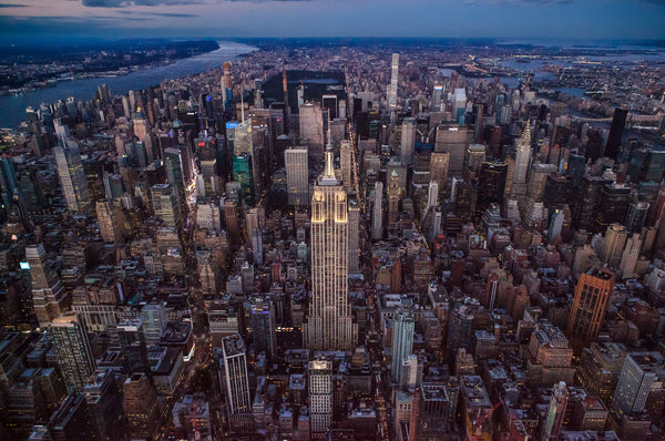 Aerial Midtown Manhattan