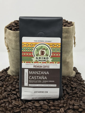 Manzana Castaña - Mexico-(f) Medium – Pour Over or Drip / 12 oz- Just a Grind