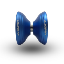 Load image into Gallery viewer, A metal yoyo body with the Teflon fingerspin yoyo cups allows for a hollow construction, which makes an unparalleled rim weighted design possible. This weight distribution isn't possible with a traditional solid metal design.