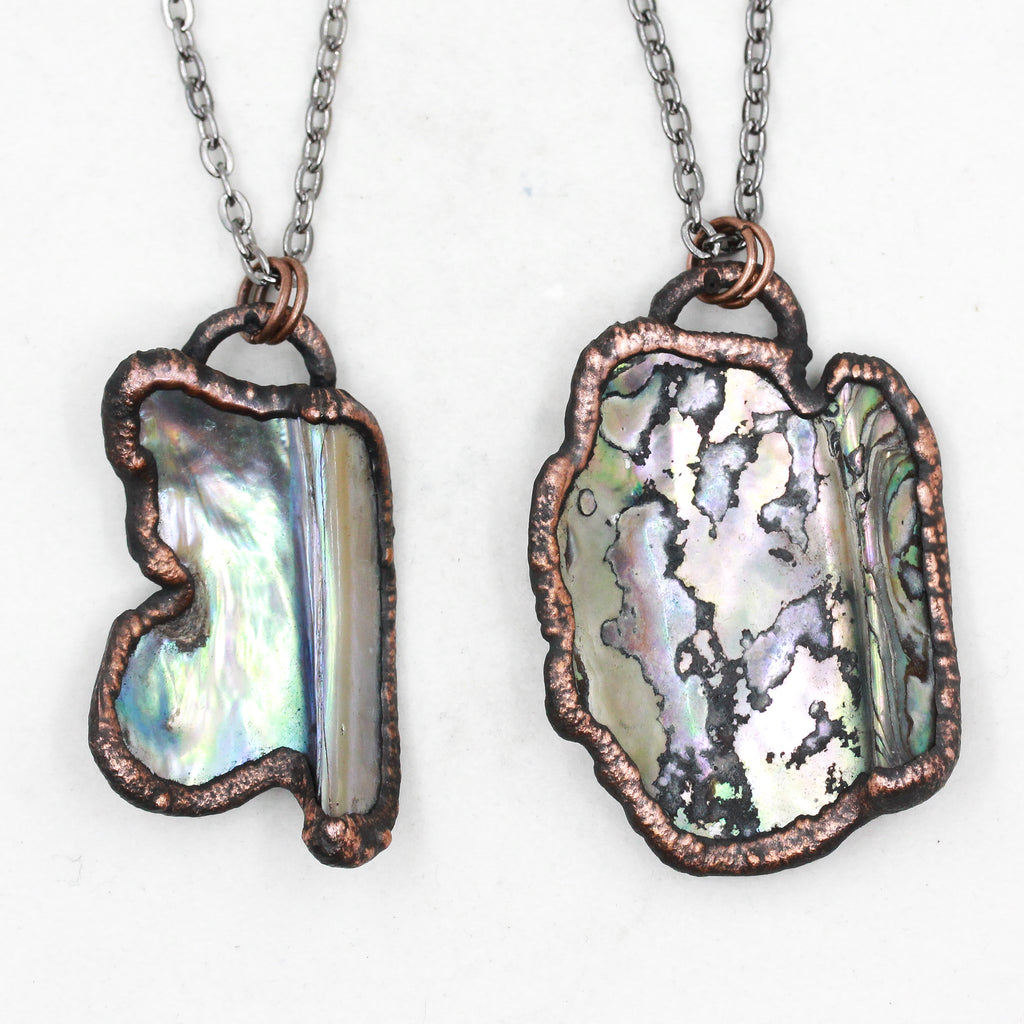Copy of Copper Electroformed Abalone Shell Necklace