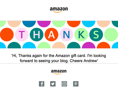 £50 Amazon Voucher Redeemed