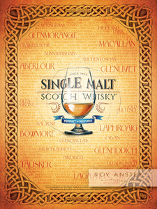 Single Malt Scotch Whisky: 30x40cm Art Print