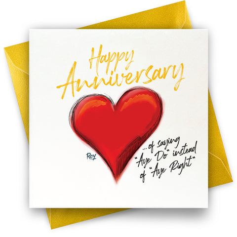 Aye Right Anniversary: Greeting Card