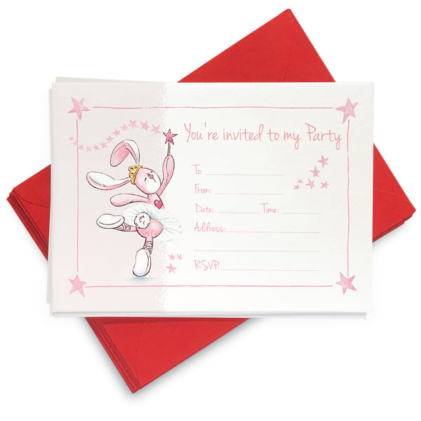 Ballet Bunbun Invites: Pack of 8