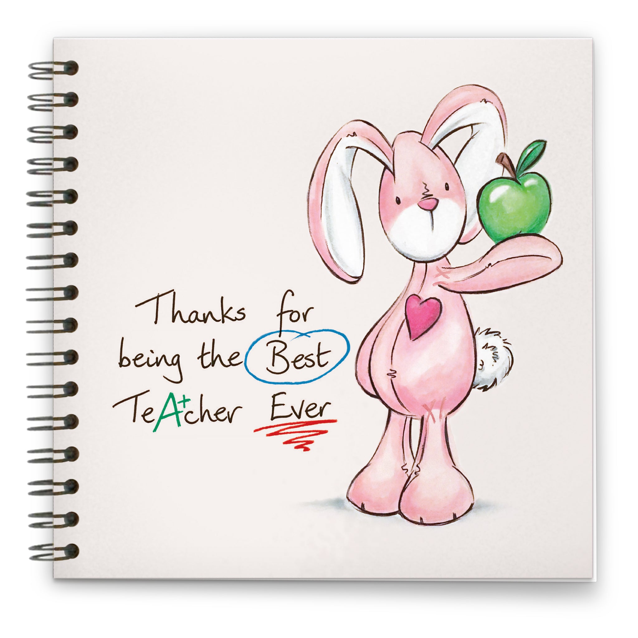 Best Teacher Ever - Bunbun: Spiral-bound Notebook 140mm sq.