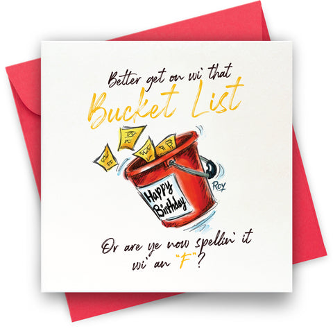 Bucket List: Greeting Card