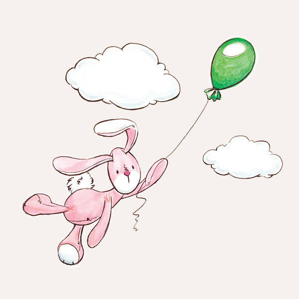 Balloon Flying Bunbun: Print