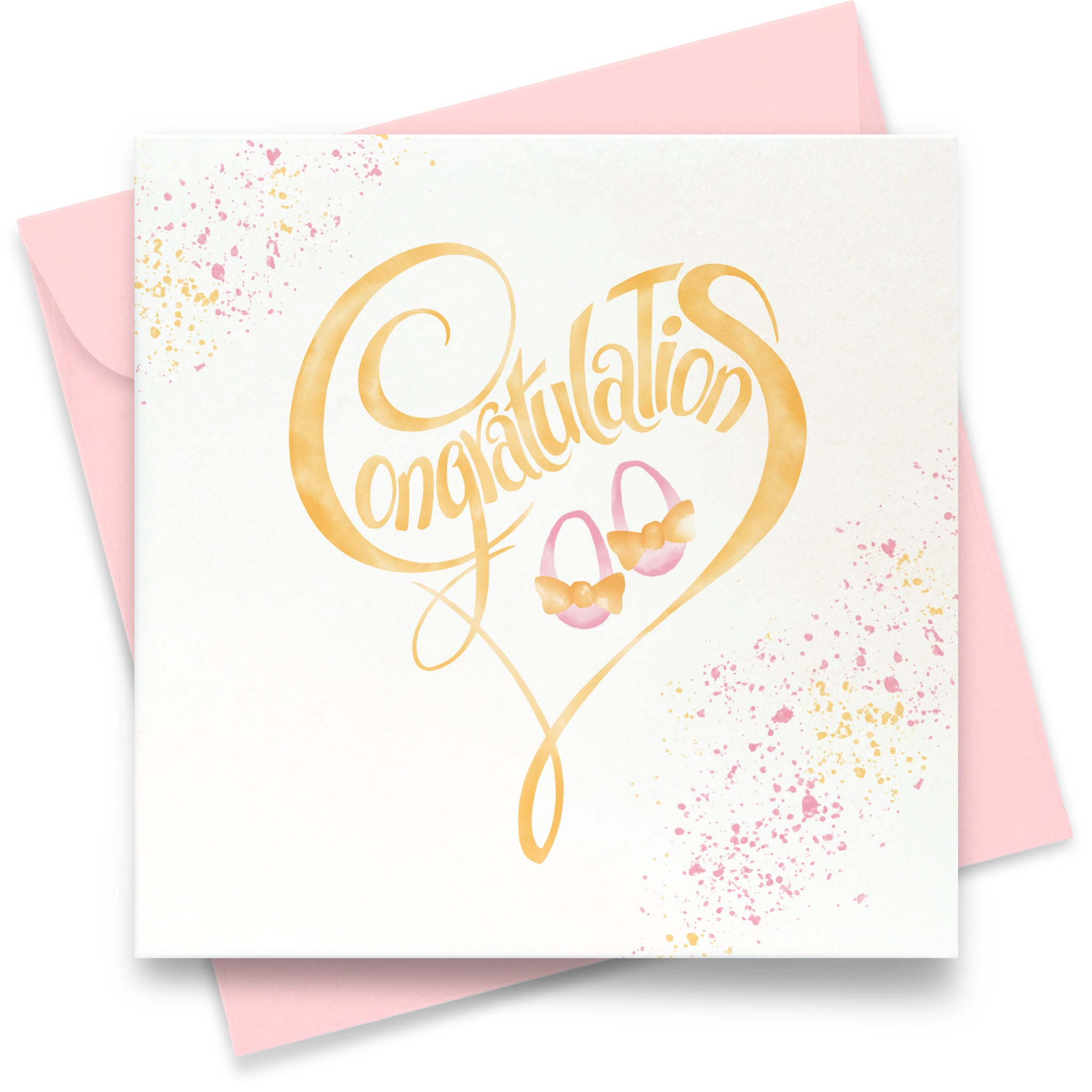 Congratulations - Baby Girl: Greeting Card