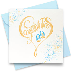 Congratulations - Baby Boy: Greeting Card