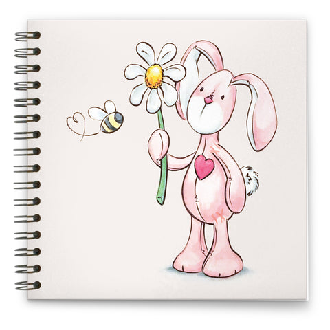 Daisy Bunbun: Spiral-bound Notebook 140mm sq.