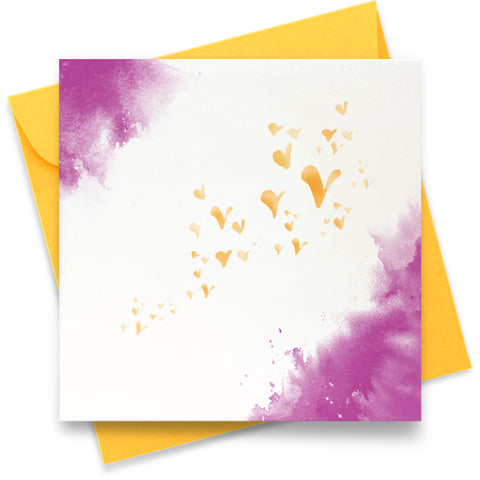 Flutterby Hearts - Lilac: Greeting Card