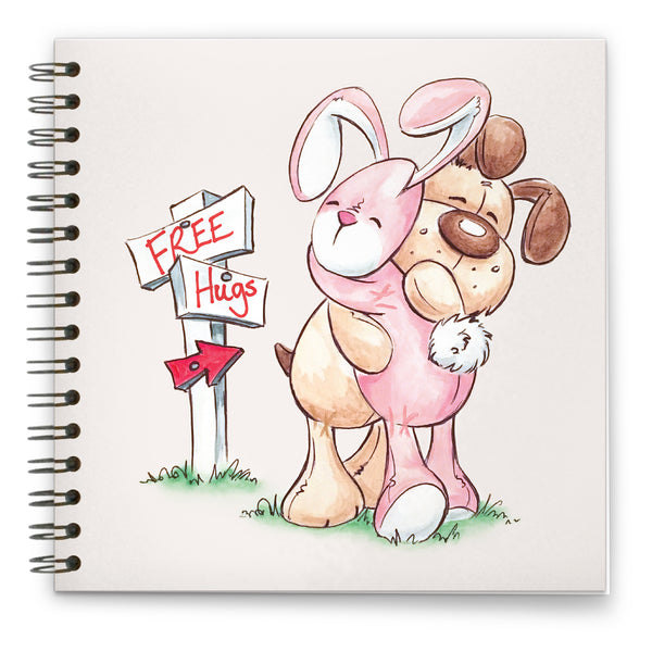 Free Hugs: Spiral-bound Notebook 140mm sq.