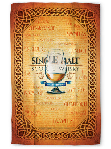 Single Malt Scotch Whisky: Tea Towel