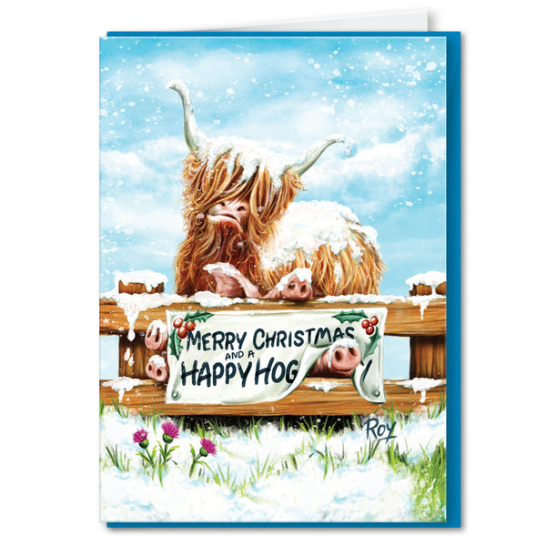 Happy Hog: Christmas Greeting Card