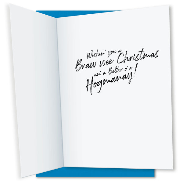 Hibernating Haggis: Christmas Greeting Card