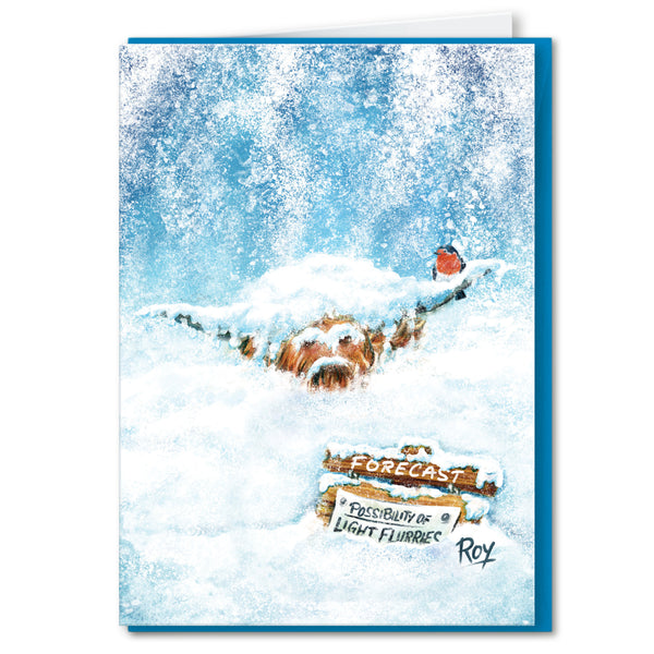Light Flurries: Christmas Greeting Card