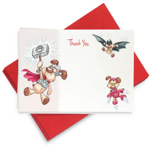 Hero Rufus Thank You Cards: Pack of 8